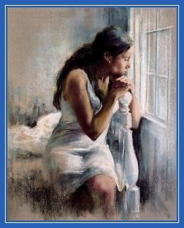 Женщина, у окна, одиночество