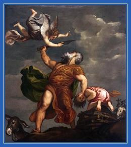 Авраам приносит в жертву Исаака - Жертвенник