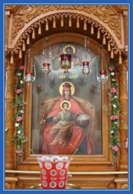 Державная икона Божией Матери, в храме
