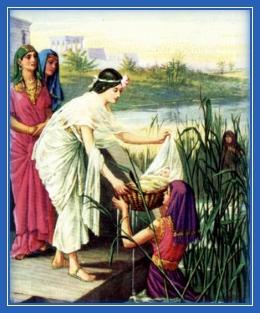 Доч фараона спасает младенца Моисея