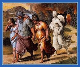 Гибель Содома, Лот, жена Лота, соляной столб, огонь