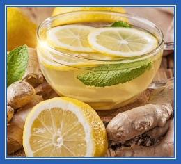 Имбирный чай с лимоном, бодрость