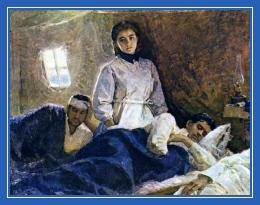 Медсестра, раненые, война