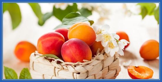 Персики, корзина, фрукты - лето