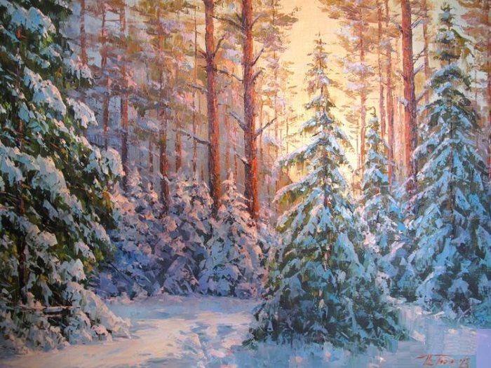 Зимний лес в поэзии!