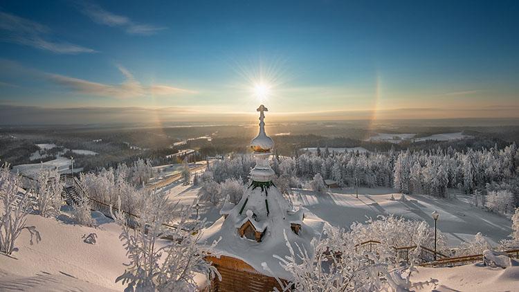 Храм. Зима. Мороз