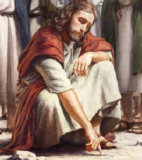 Иисус пишет на песке | Притча