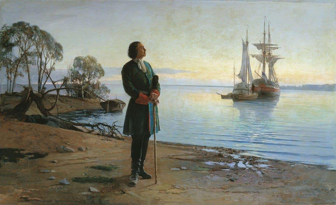 Петр Первый и корабль
