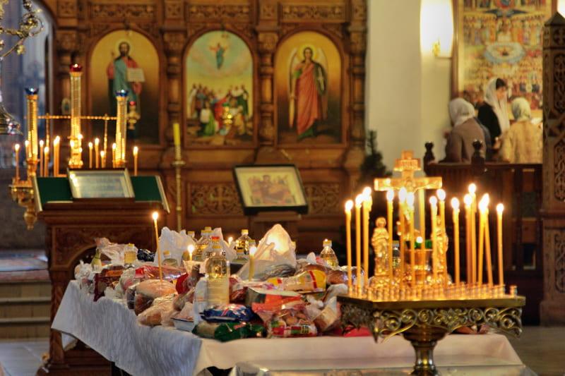 Еда в храме, на кануне