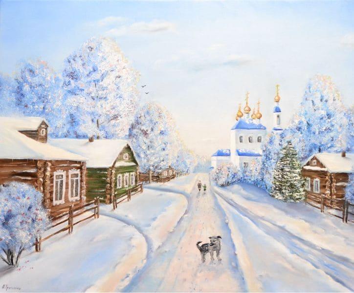Храм. Снег. Зима