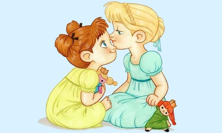 Любовь, дружба. Две девочки
