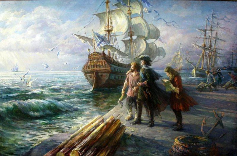 Петр Первый. Корабль