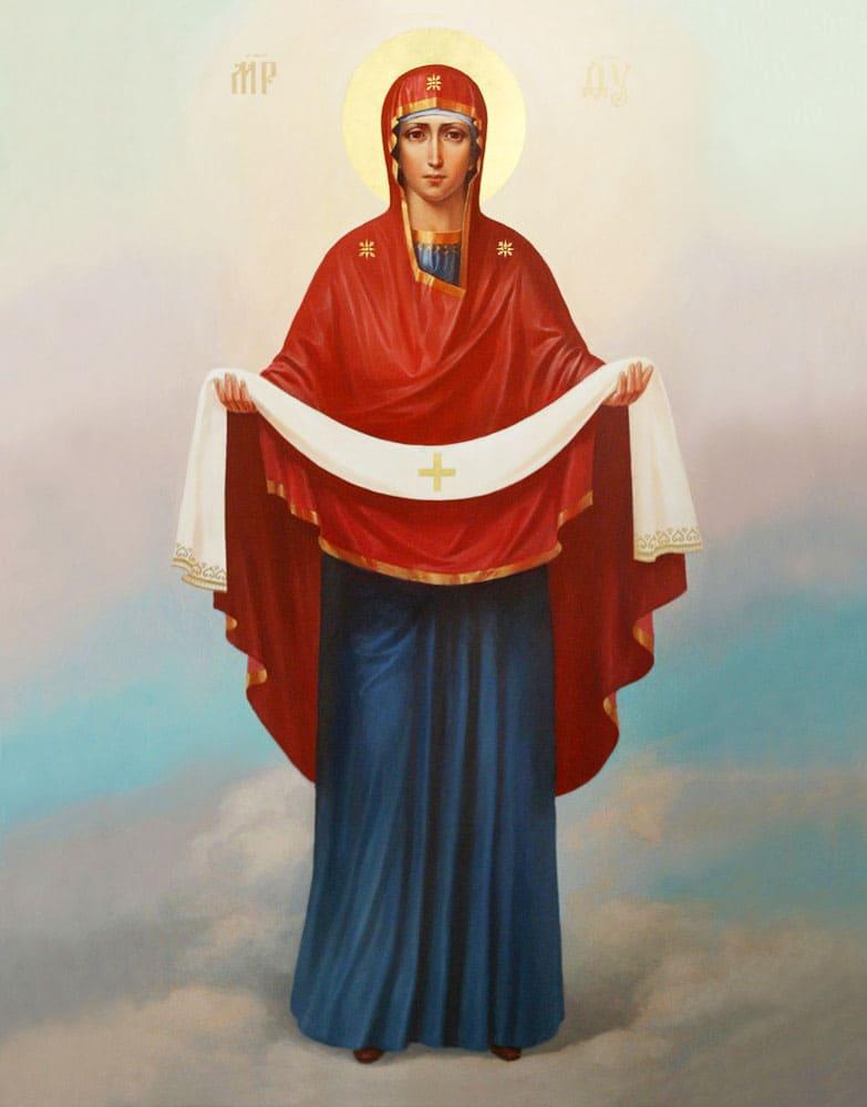 Покров Пресвятой Богородицы. На небе
