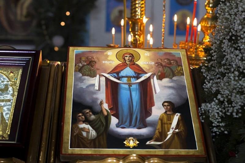 Покров Пресвятой Богородицы. Праздничкная икона