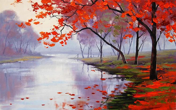 Осень. Река