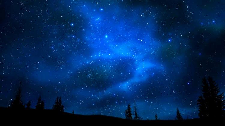 Созвездия и скопления звёзд. Ночное небо