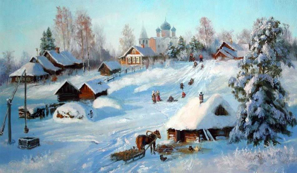 Зима, Храм, церковь