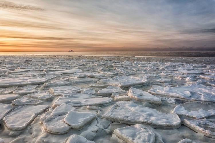 Белое море. Лед