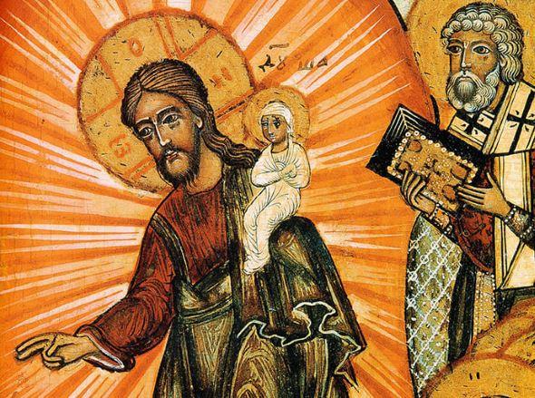 Изображение души Богородицы на иконах