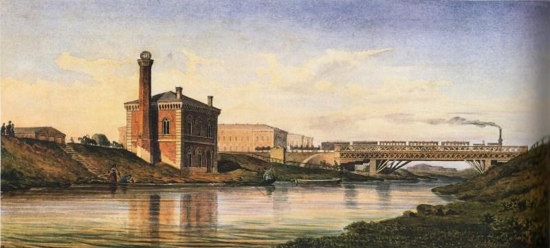 Мост. Поезд