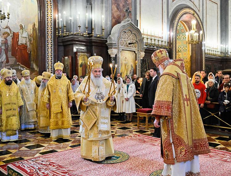 Патриарх Иерусалимский Феофил и Патриарх Кирилл