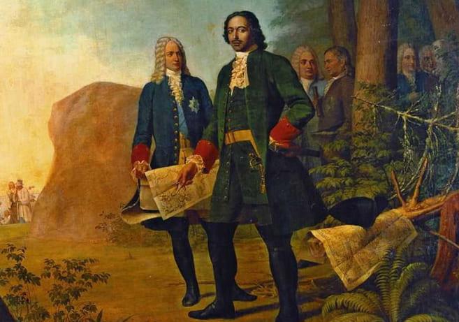 Петр Первый и Александр Меньшиков