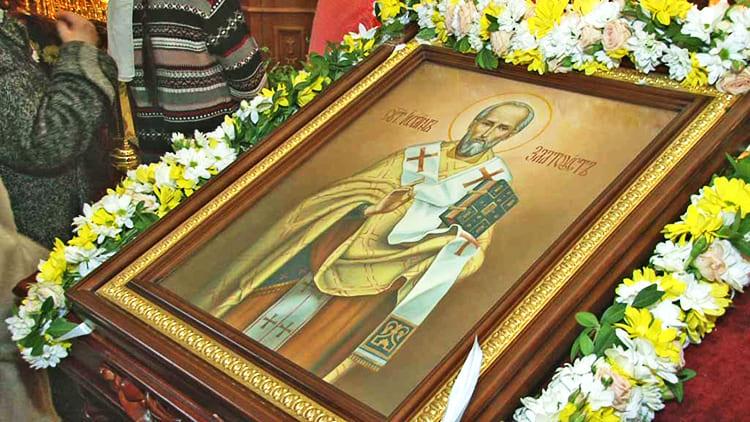 Святитель Иоанн Златоуст. Праздничная икона