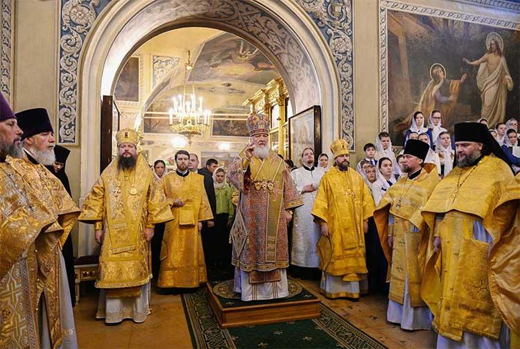 Патриарх Кирилл. Литургия