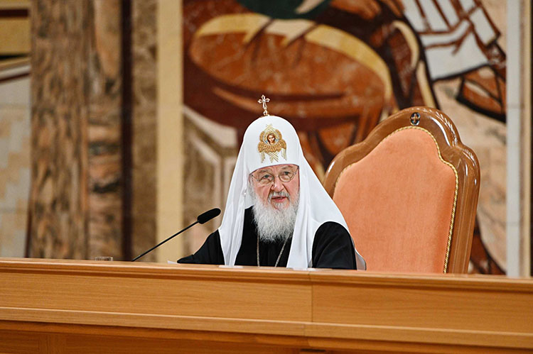 Патриарх Кирилл. Заседание