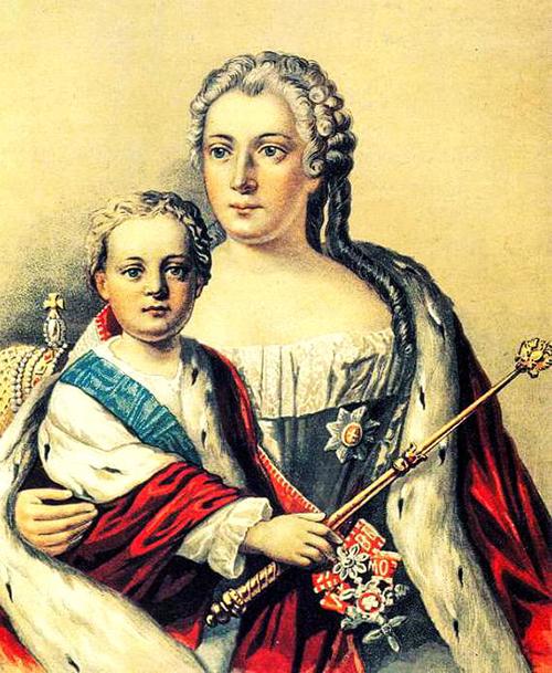 Анна Леопольдовна с сыном. Правительница
