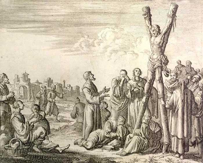 Апостол Андрей Первозванный. На кресте