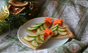 Бутерброды елочки