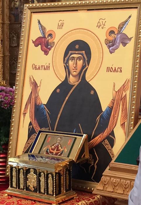 Икона с Поясом Пресвятой Богородицы