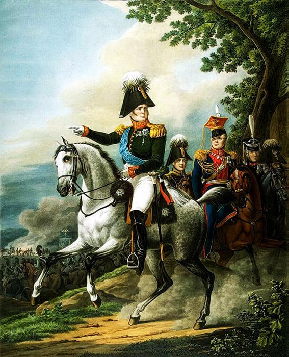 Император Александр I на коне
