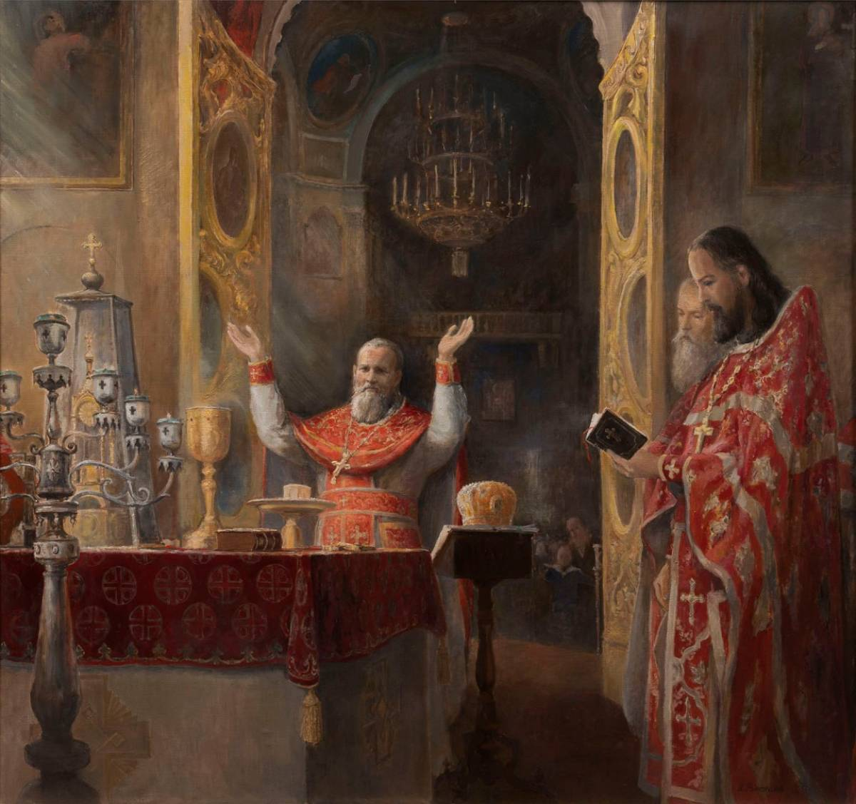 Иоанн Кронштадтский совершает Литургию