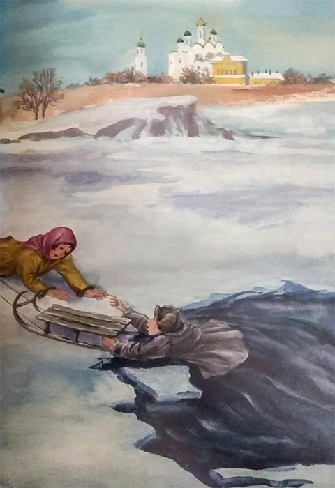 Лед, вода, полынья