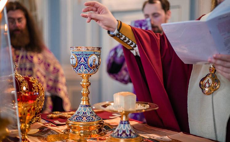 Причастие, чаша, престол