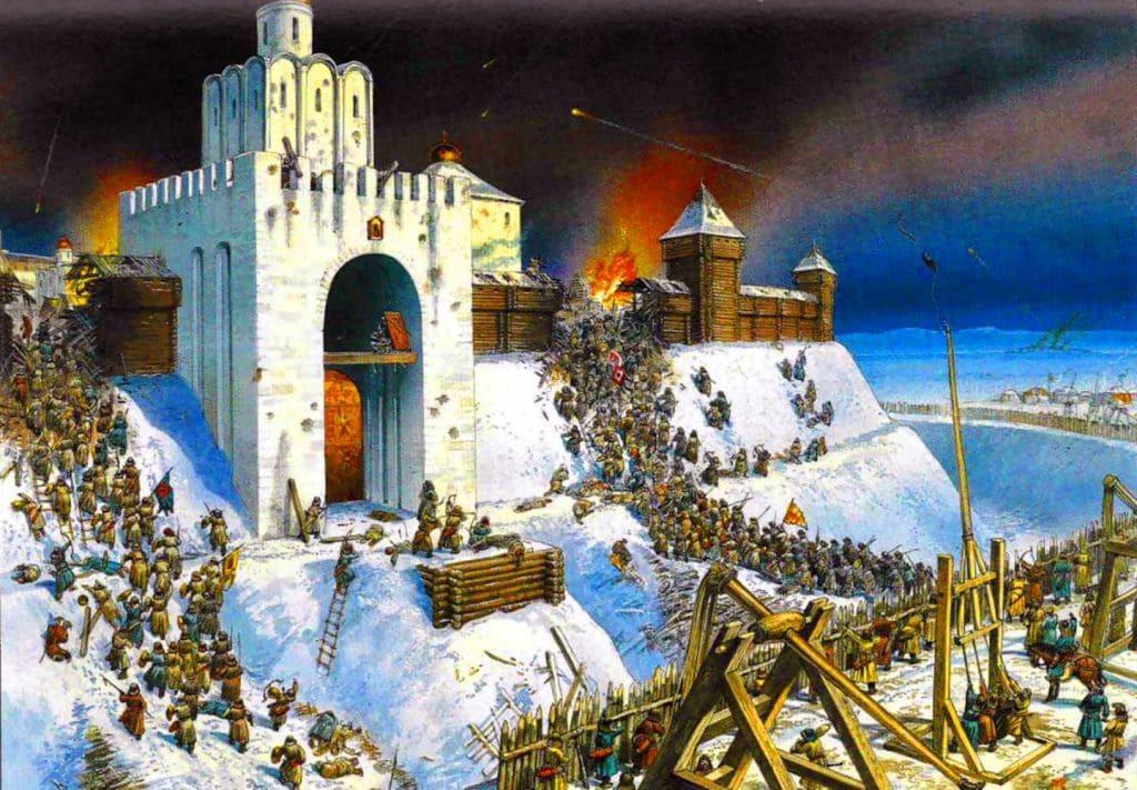 Штурм города Киева монголами