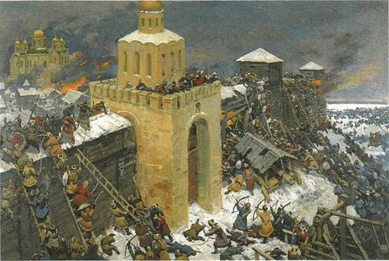 Штурм города Киева татаро-монголами