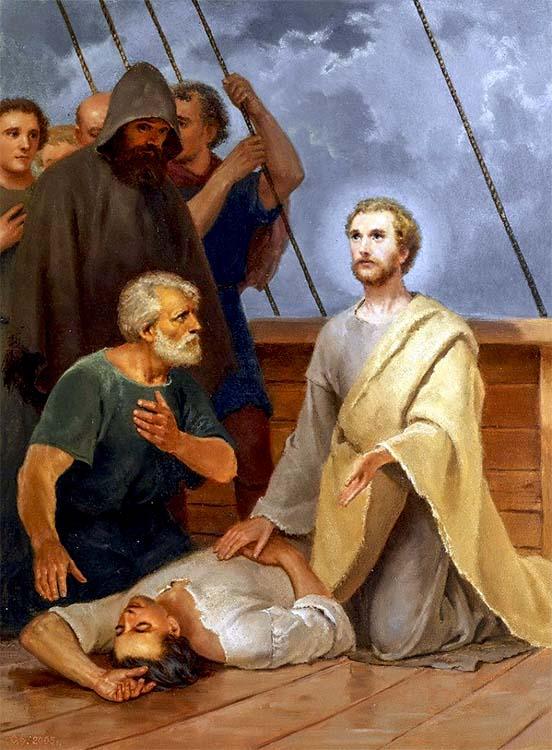 Святитель Николай воскрешает разбившегося моряка