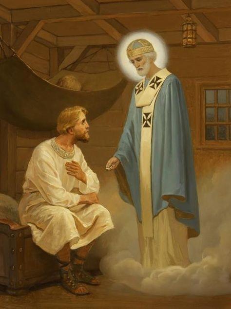 Святитель Николай. Явление купцу