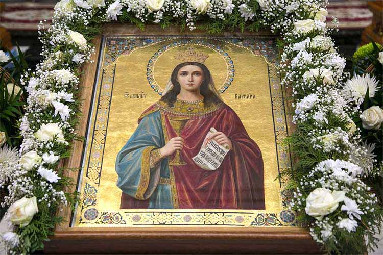 Великомученица Варвара. Икона