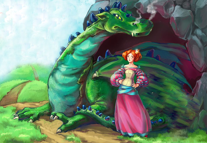 Вредная принцесса и дракон