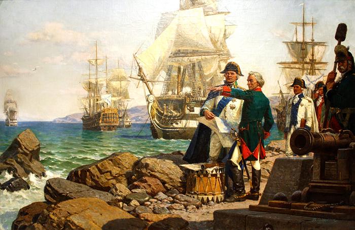 Взятие крепости Очаков. Корабли