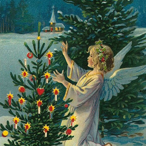 Ангел и Рождественская елка