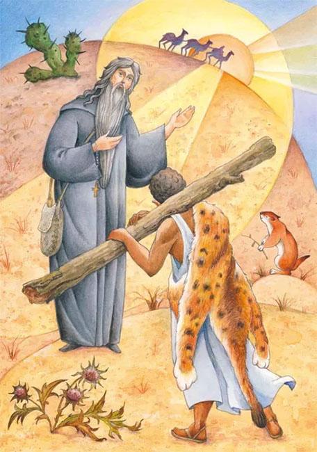 Авва Макарий и идольский жрец