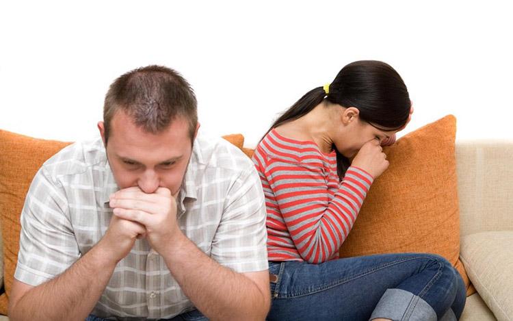муж и жена, вина