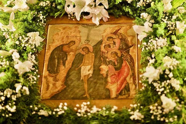 Икона Крещения Господня в храме