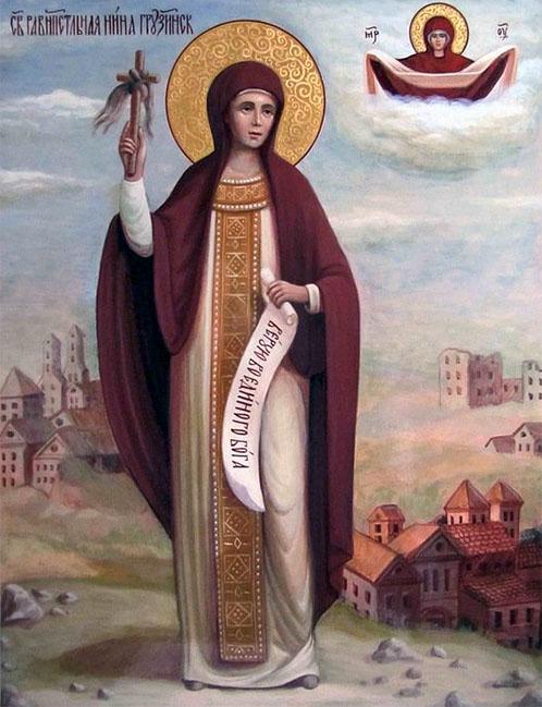 Матерь Божия и святая Нина