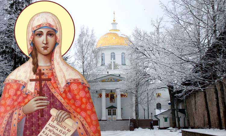 Михайловский собор Псково-Печерского монастыря и святая Татиана
